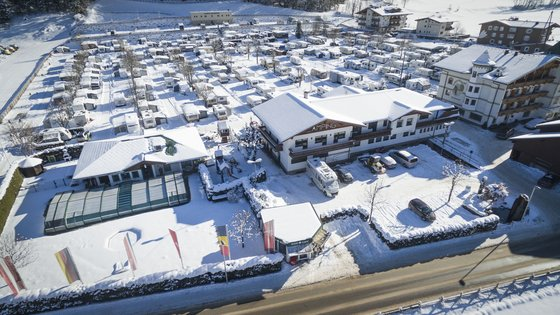 Campingplatz Mayrhofen in winter