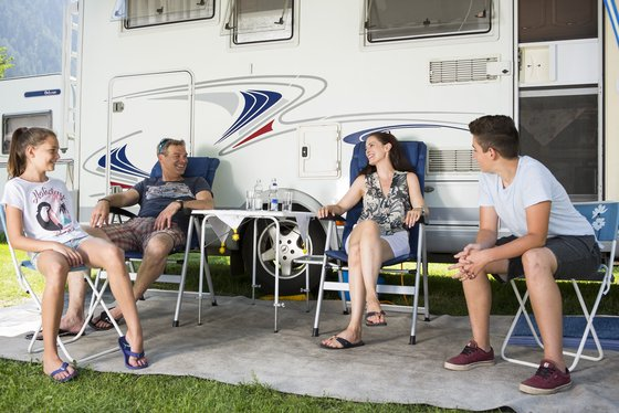 Family camping in the Zillertal