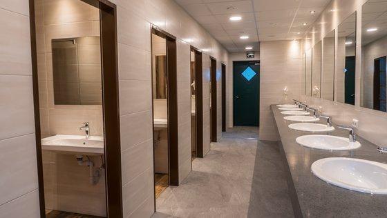 Individual shower cubicles © Camping Mayrhofen
